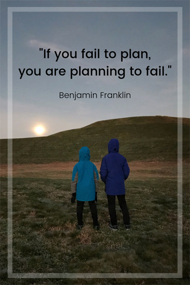 """Hiking Challenge Quote - """"If you fail to plan, you are planning to fail."""""""