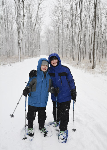 First time snowshoeing
