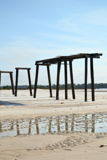 Old pier at Camp Helen State Park along Florida's 30A.