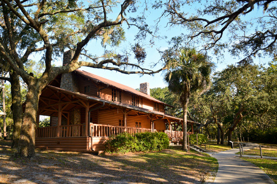 The lodge at Camp Helen State Park