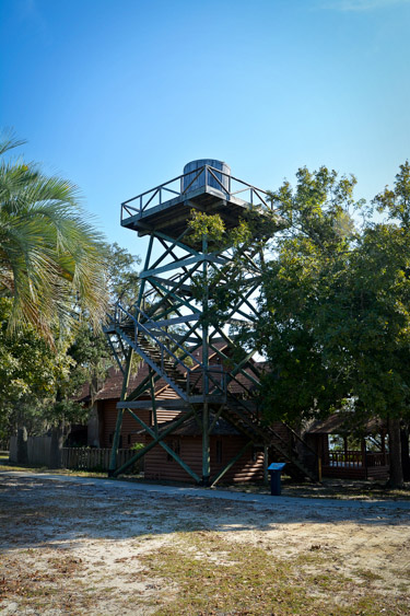 Water Tower at Camp Helen State Park