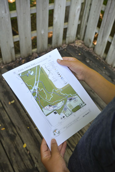 Map of Cool Creek Nature Preserve in Indiana