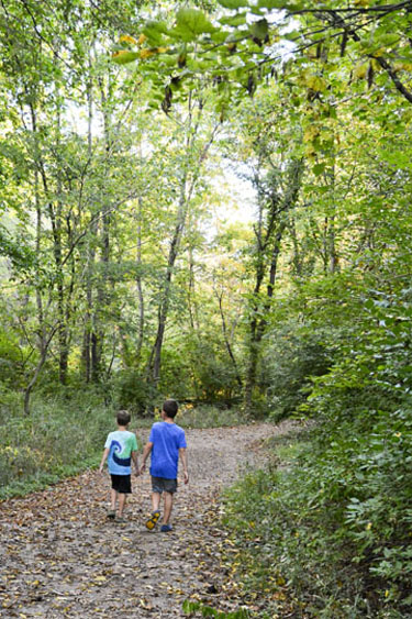 Fall Creek Trail at Fort Harrison State Park