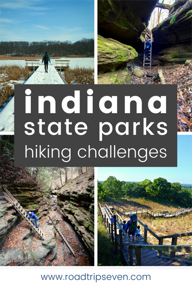 Looking to spend more time outdoors, be fit, and have fun? Consider participating in one of the Indiana State Parks Challenges! The Indiana DNR has created five hiking challenges as well as one fitness challenge to encourage Hoosiers to get outside and exercise at its parks and lakes. In this post, we detail each of these challenges, provide useful tips for completing them, and talk about some fun prizes you can win in the process.