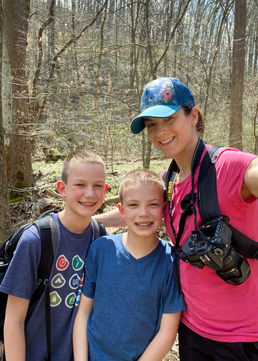 Participating in the Indiana State Parks Challenge by hiking at Brown County State Park.