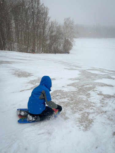 Sledding hill at Indianapolis' Fort Harrison State Park
