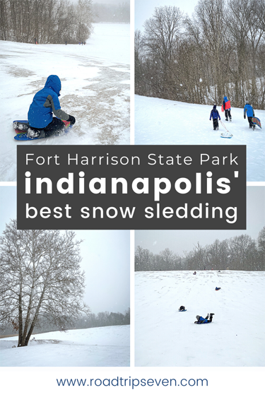 Searching for the best snow sledding in Indianapolis? Don't waste time looking through lists. The sledding hill at Fort Harrison State Park is better than the rest. With its sheer size and perfect slope, Fort Harrison is one of Indy's best sledding spots.