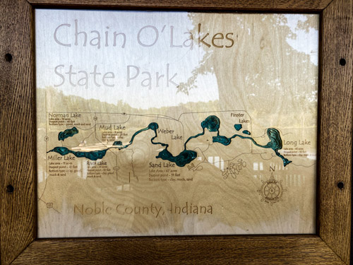 Chain O' Lakes State Park Wooden Map