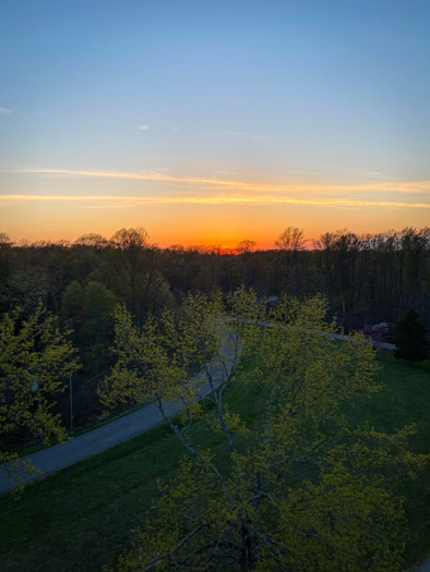 View from Brown County State Park Fire Tower at Sunset