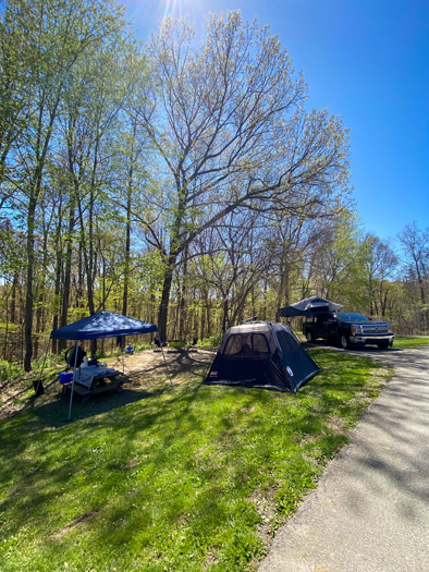 Brown County State Park Buffalo Ridge Camping Site