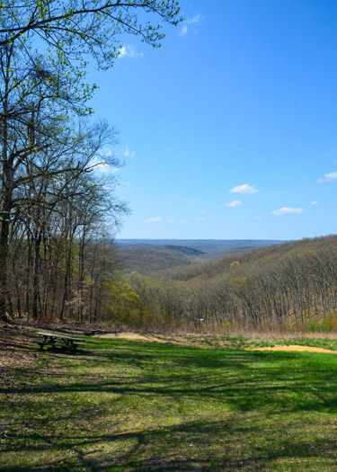 Scenic Vist in Brown County State Park along Trail 8.