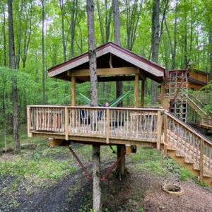 Ohio's Cannaley Treehouse Village: Spend the Night in a Treehouse!