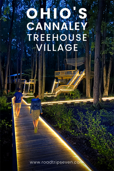 Ever dreamed of spending the night in a treehouse? If so, Ohio's Cannaley Treehouse Village is for you! Just a short drive west of Toledo, the village is located in the forests of Oak Openings Metropark. Here, visitors can spend the night in one of four unique treehouses. Or for the more adventurous, like us at Road Trip 7, you can pitch a tent and hang your hammock on one of three camping platforms.Either way, the experience is truly one-of-a-kind. While staying in the village, enjoy all that Oak Openings has to offer, from hiking to biking, birding, and geocaching. For everything you need to know to plan your perfect treehouse getaway, read on!